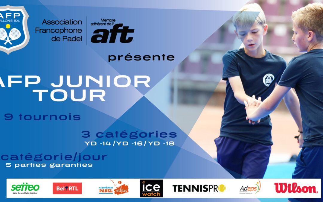 Le Vautour organise le premier tournoi de padel junior du circuit belge: l'AFP Junior Tour.