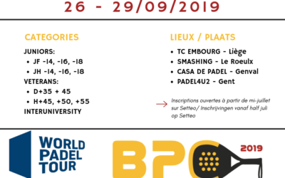 2019 World Padel Tour Belgium